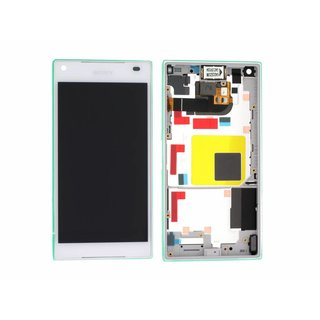 Sony Xperia Z5 Compact E5803 LCD Display Module, White, 1297-3732