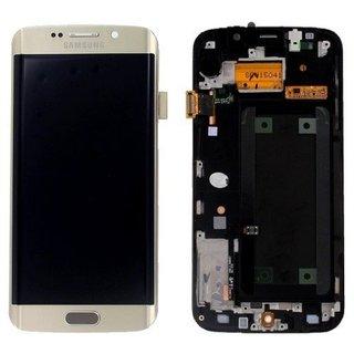 Samsung G925F Galaxy S6 Edge LCD Display Modul, Gold, GH97-17162C