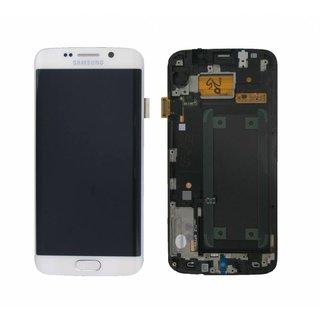Samsung G925F Galaxy S6 Edge LCD Display Module, White, GH97-17162B