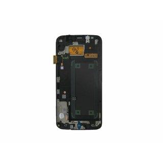 Samsung G925F Galaxy S6 Edge LCD Display Modul, Weiß, GH97-17162B