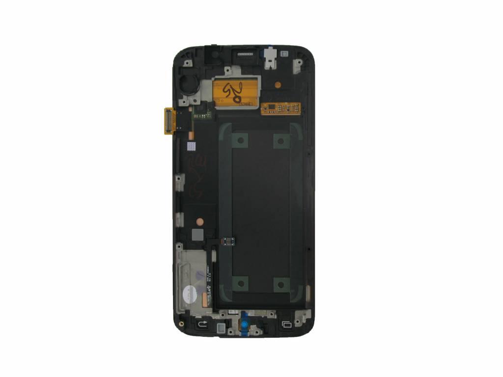 Samsung G925f Galaxy S6 Edge Lcd Display Modul Weiss Gh97 17162b