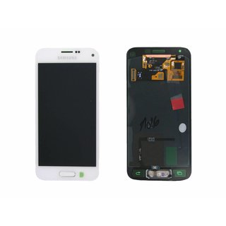 Samsung G800F Galaxy S5 Mini LCD Display Module, White, GH97-16147B