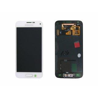 Samsung G800F Galaxy S5 Mini Lcd Display Module, Wit, GH97-16147B