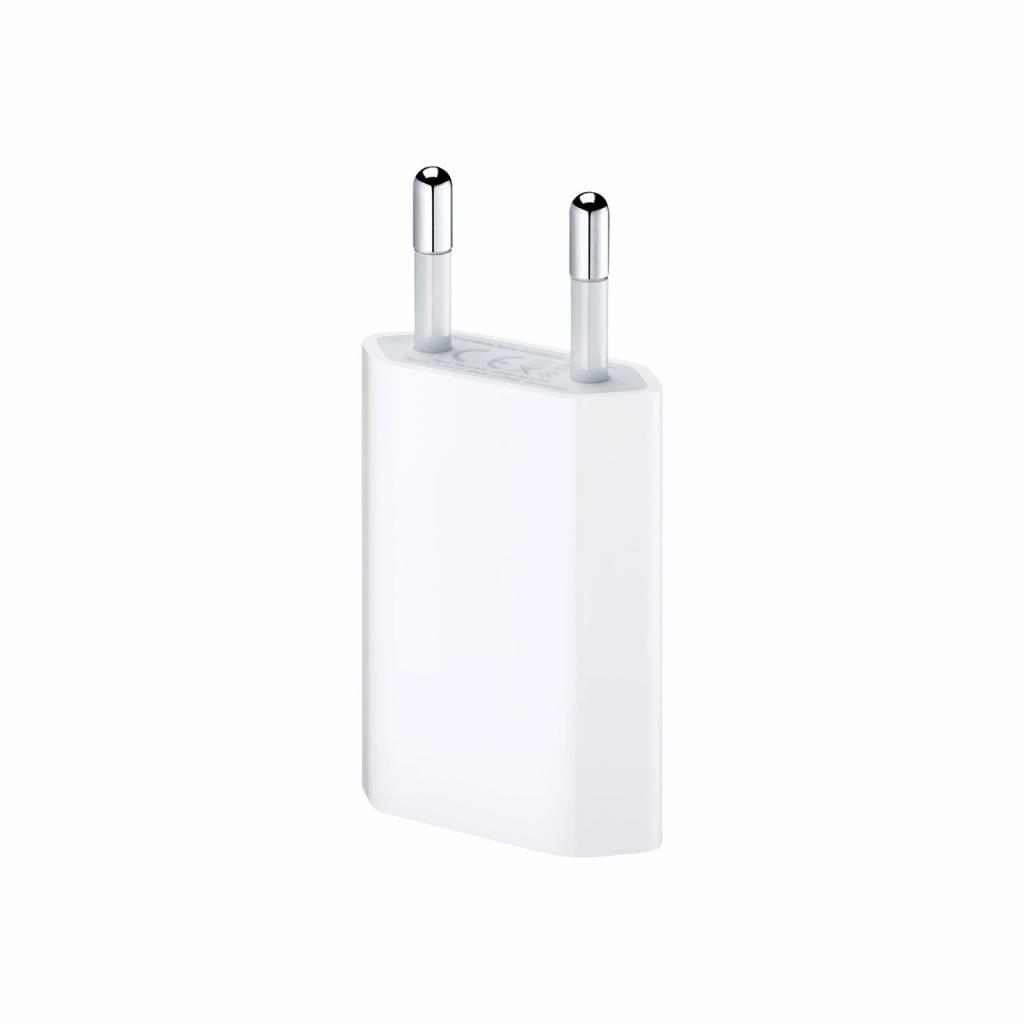 USB-Oplader, Wit, 5V, 1.0amps, 5Watt , Geschikt Voor Apple iPhone 6 Plus