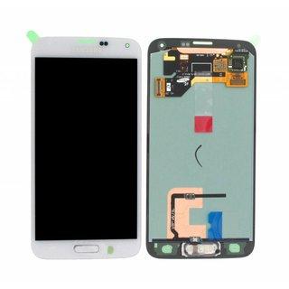 Samsung G900F Galaxy S5 LCD Display Module, White, GH97-15734A;GH97-15959A