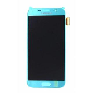 Samsung G920F Galaxy S6 LCD Display Modul, Blau, GH97-17260D