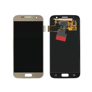 Samsung G930F Galaxy S7 LCD Display Modul, Gold, GH97-18523C