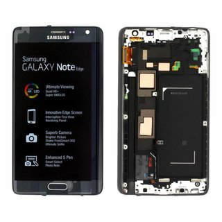 Samsung N915F Galaxy Note Edge Lcd Display Module, Zwart, GH97-16636A