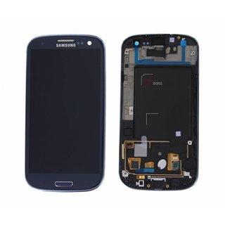 Samsung Galaxy S III i9305 LTE Lcd Display + Touchscreen + Frame Blauw GH97-14106D