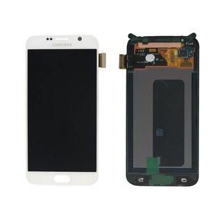 Samsung G920F Galaxy S6 LCD Display Modul, Weiß, GH97-17260B