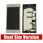 Sony Xperia XZ Premium Dual G8142 LCD Display Module + Touch Screen Display + Frame, Zilver, 1307-9887