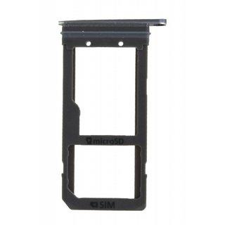Samsung G935F Galaxy S7 Edge Sim + Memory Card Cover, Black, GH98-38787A
