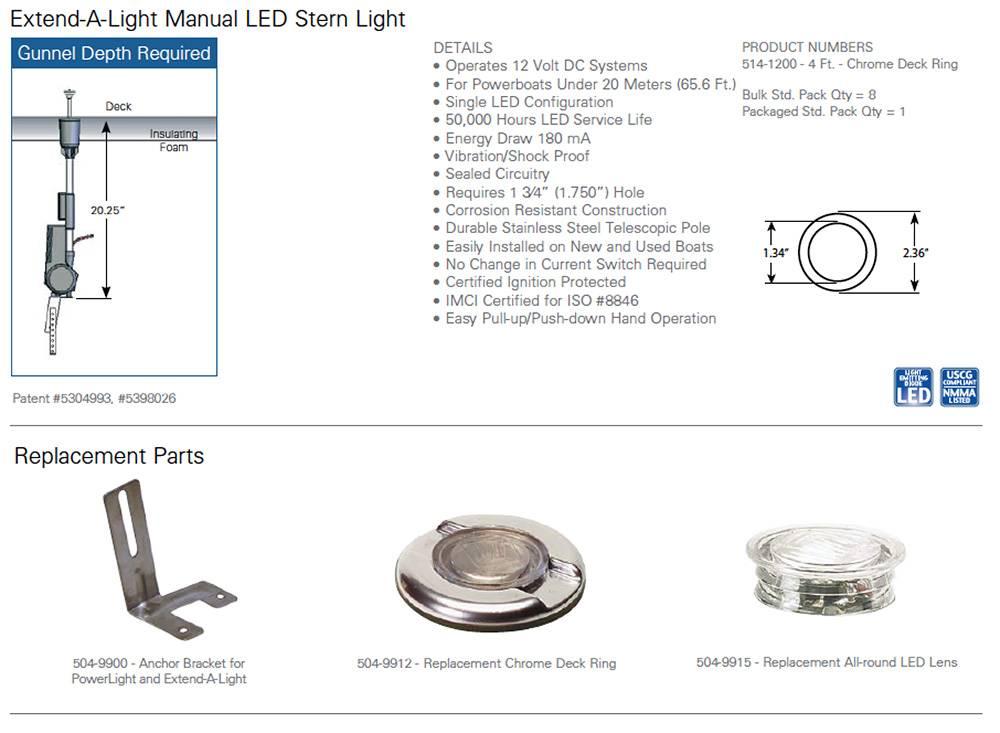 Innovative Lighting All Round LED Stern light manual operation  sc 1 st  IQ-Parts-Shop & Innovative Lighting All Round LED Stern Light manual operation | IQ ...