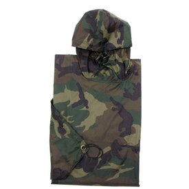 US Poncho ripstop Woodland camouflage
