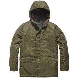 Vintage Industries Mitchel parka Olive Drab Winterjas