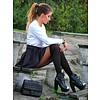 Miguela 40 panty met overknee motief Zwart
