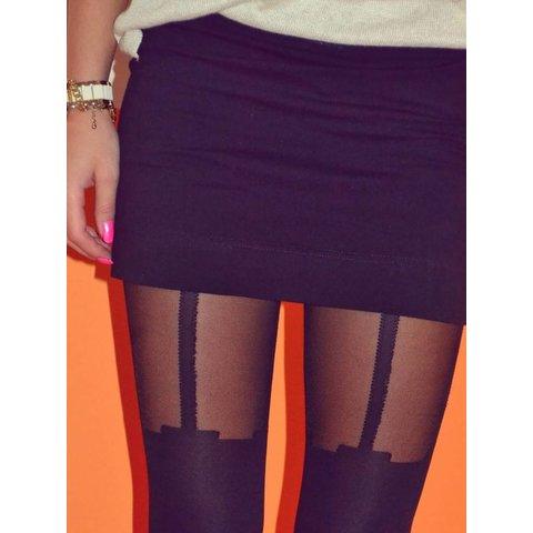 Milla 40 Suspender panty Zwart