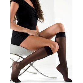 Gabriella Bezuci 15 zwarte kniekousen | 2 PAAR