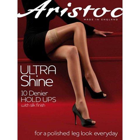 Ultra Shine 10 hold ups Huidskleur