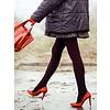 Xara streepjesmaillot Zwart / Rood