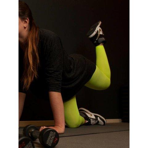 Colour Block 60 legging Neon Geel