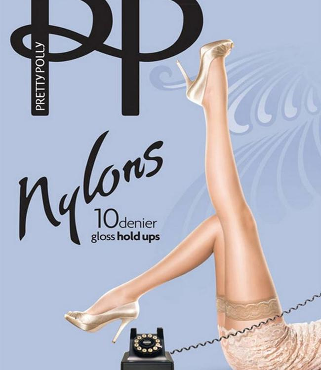 Pretty Polly Nylons Gloss 10 kousen Huidskleur