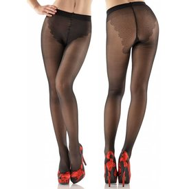 Fiore Lena 40 denier panty met bikini broekje Zwart