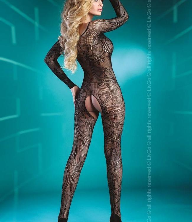 Livia Corsetti Abra zwarte bodystocking