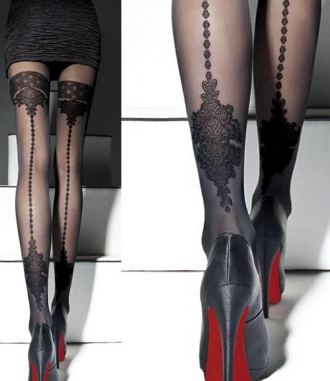 FIORE Apriel 40 zwarte luxe naadpanty