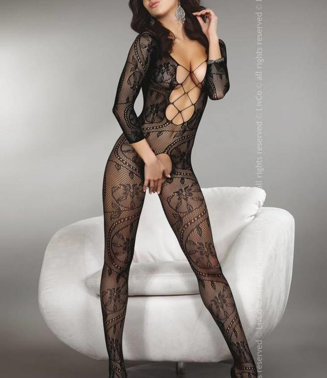 Livia Corsetti Zita zwarte catsuit
