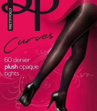 Pretty Polly Plush Curves 60 panty zwart grote maat