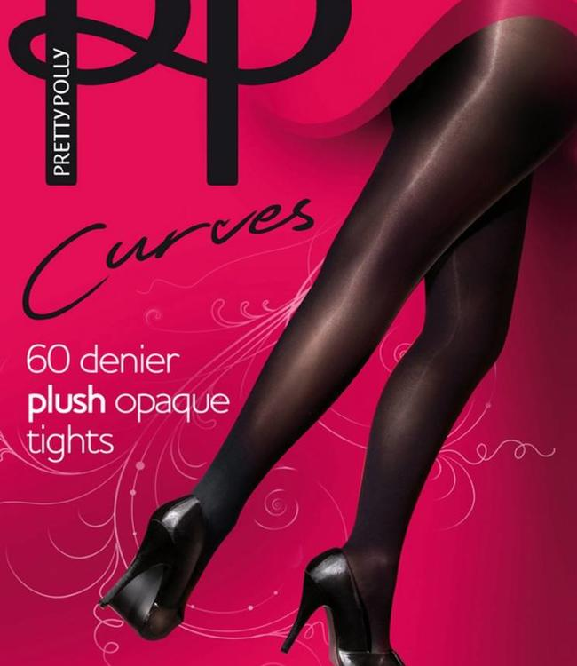 Pretty Polly Plush Curves 60 panty zwart grote maat