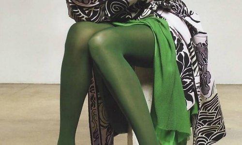 Groene panty