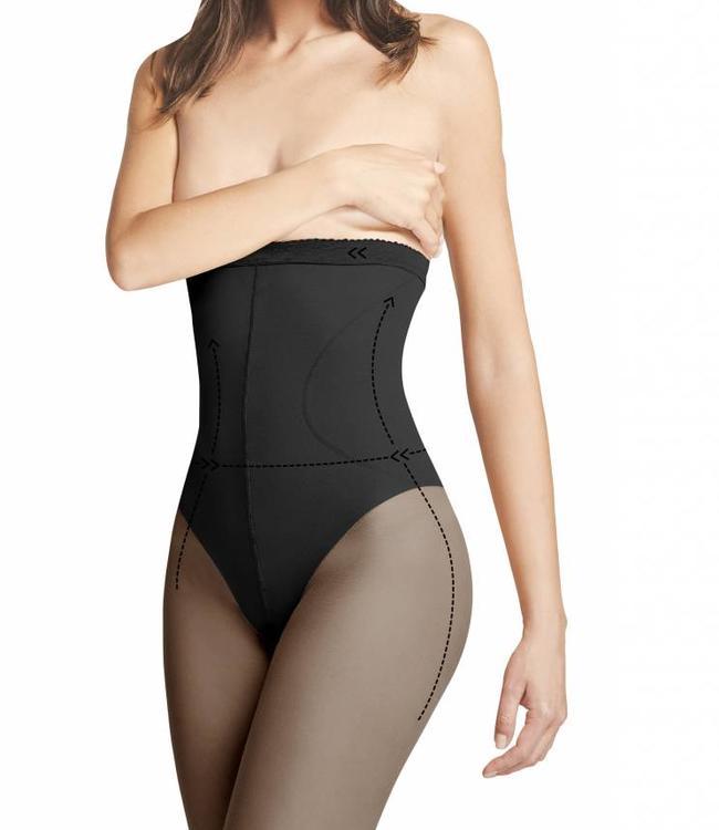 FIORE High Waist Bikini 20 panty Zwart