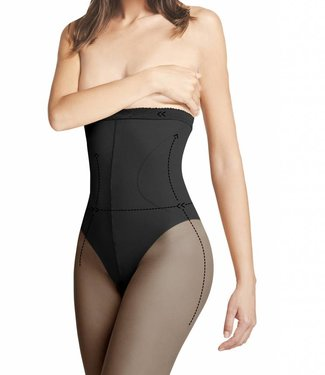 FIORE High Waist Bikini 40 panty Zwart
