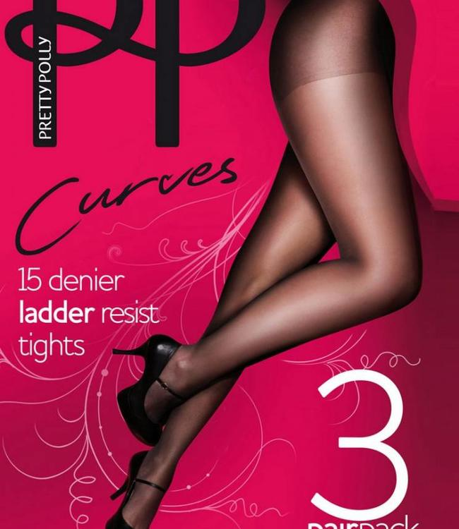 Pretty Polly Ladder Resist Curves 15 grote maat panty | 3 PAAR