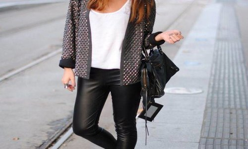 Leatherlook legging