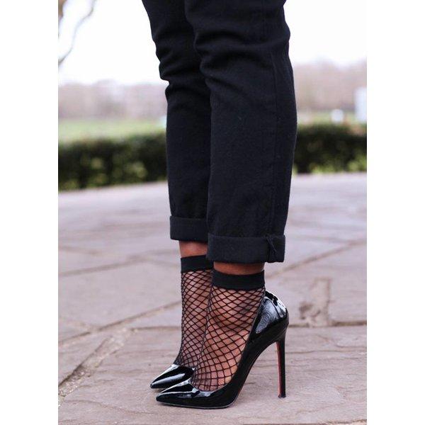 Marianne Kiki fishnet sokjes Zwart