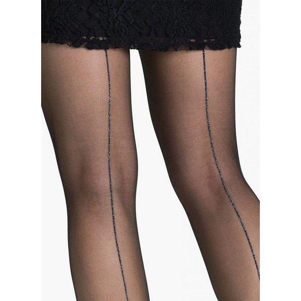 Marianne Amely 20 zwarte naadpanty met zilveren glitternaad