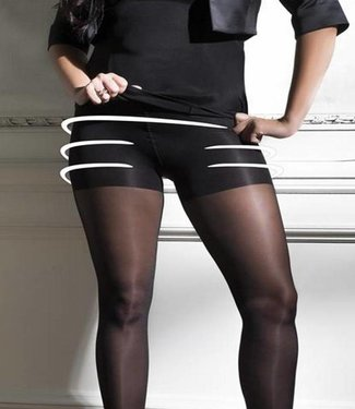 Cette Seattle Plussize 30 panty met satijnglans Zwart