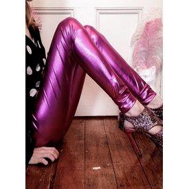 Re-Legs Glamour Life Metallic legging Paars