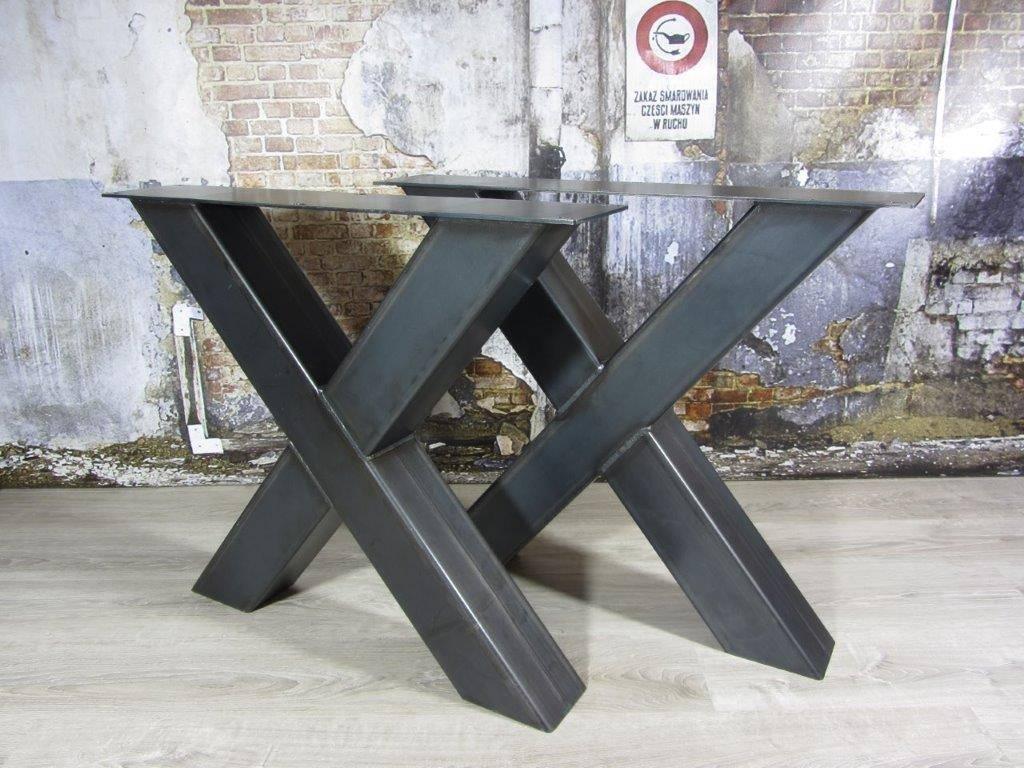 Handgemaakte Industriele Tafelpoten Model X Kruispoot
