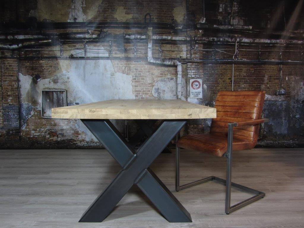 Industrieel Tafel Onderstel : Handgemaakte industriele tafelpoten model x kruispoot industriele