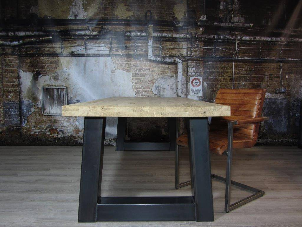Industriele Tafel Goedkoop : Industriële tafelpoten model trapezium zwaar industriele tafels