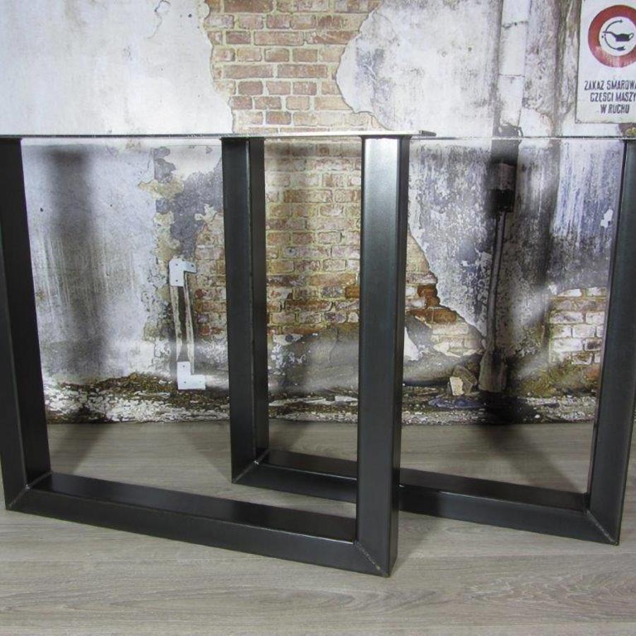 Handgemaakte Industriele tafelpoten model U Standaard