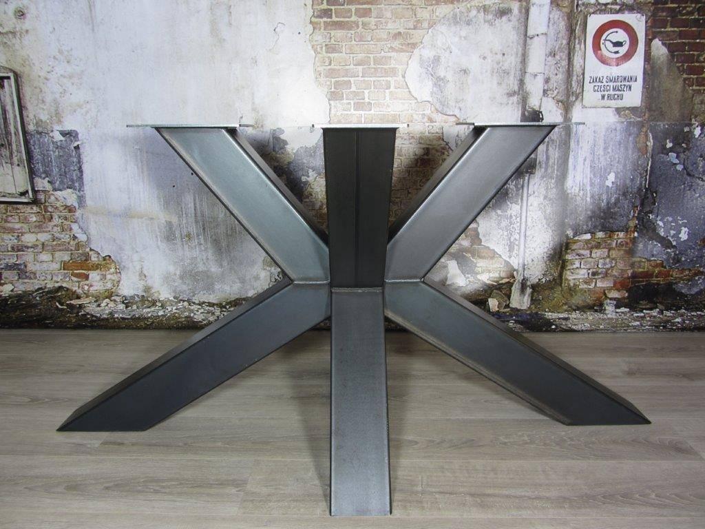 Industrieel Tafel Onderstel : Handgemaakte industriele tafelpoten model matrix 3d kruispoot