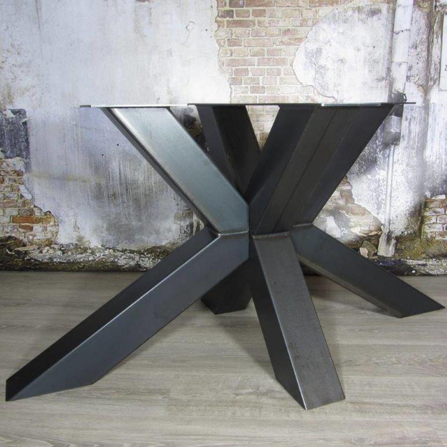 Handgemaakt industrieel tafelonderstel Matrix tafelpoot Zwaar