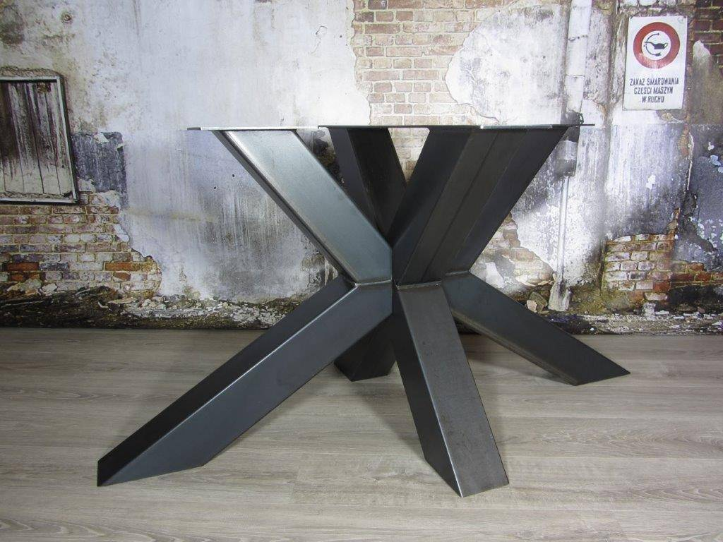 Beroemd Handgemaakte industriele tafelpoten, model matrix (3d kruispoot  MD51