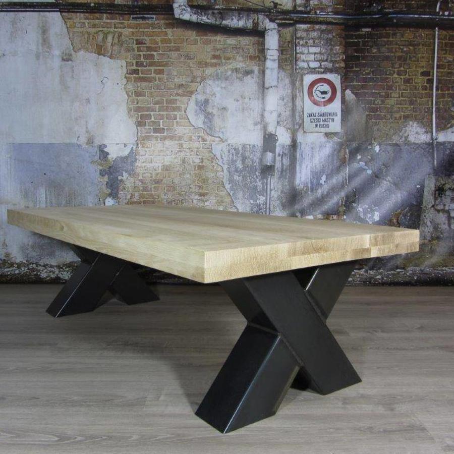 Handgemaakte industriele Salontafel poten model X Zwaar