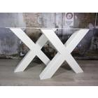 Zware industriële tafelpoten wit (RAL9010)